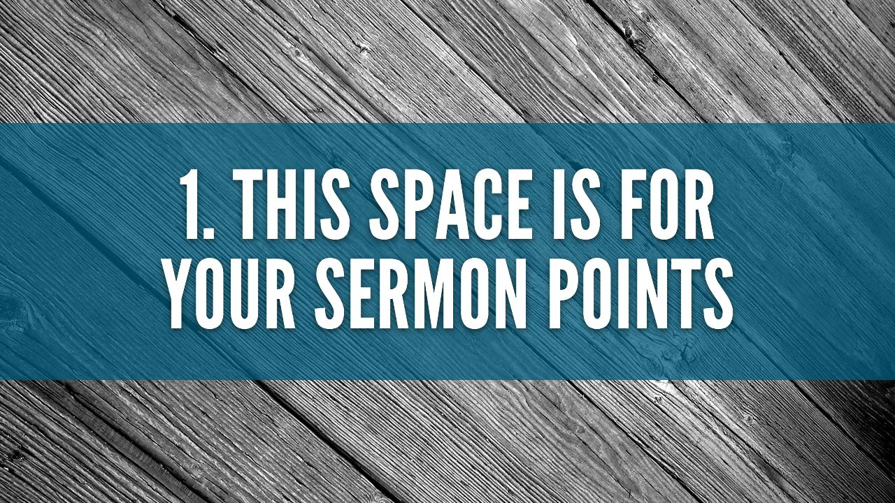Free Sermon Slide Template | The Creative Pastor