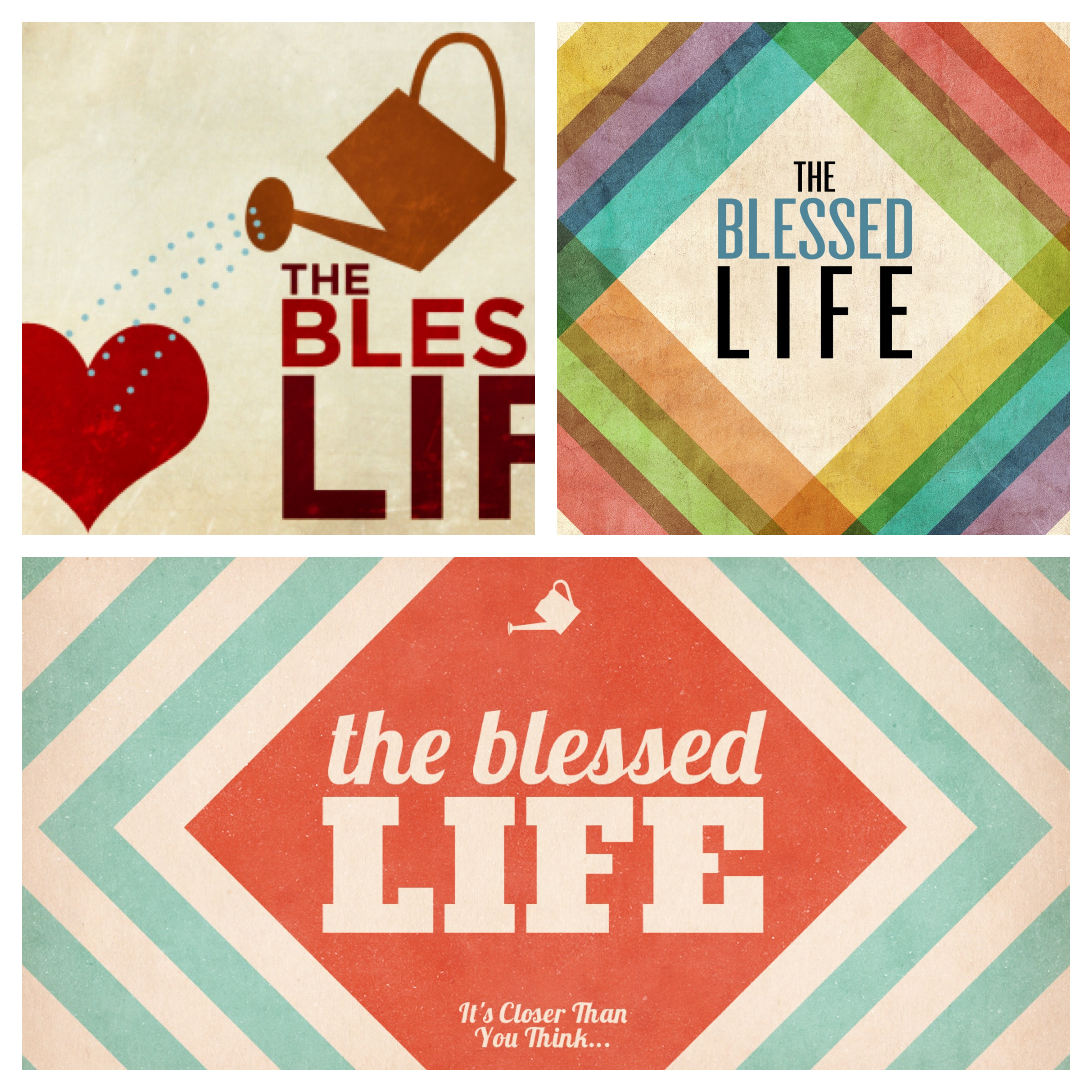 """The Blessed Life"" Sermon Graphic"