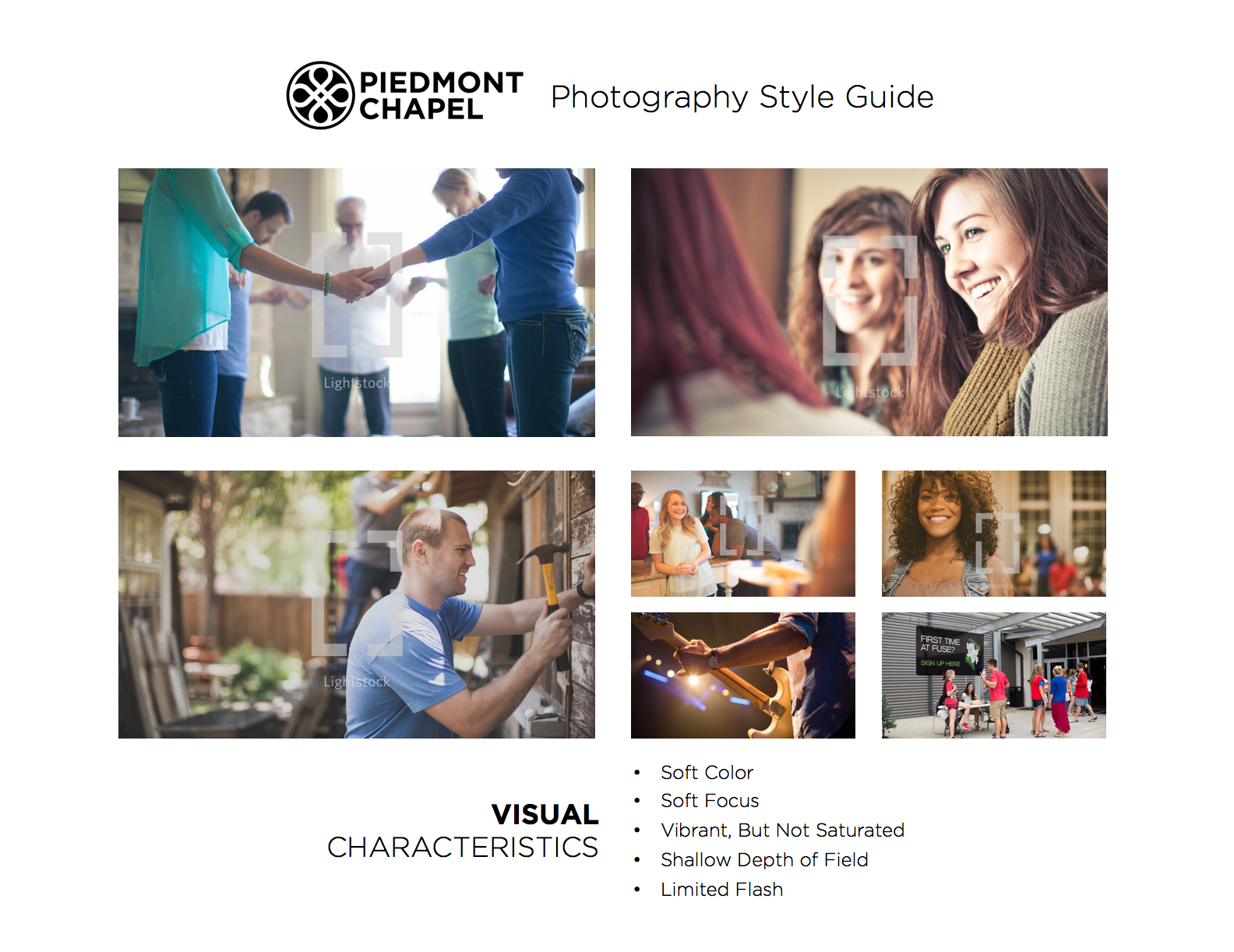 Piedmont Chapel Photography Style Guide - Page 1