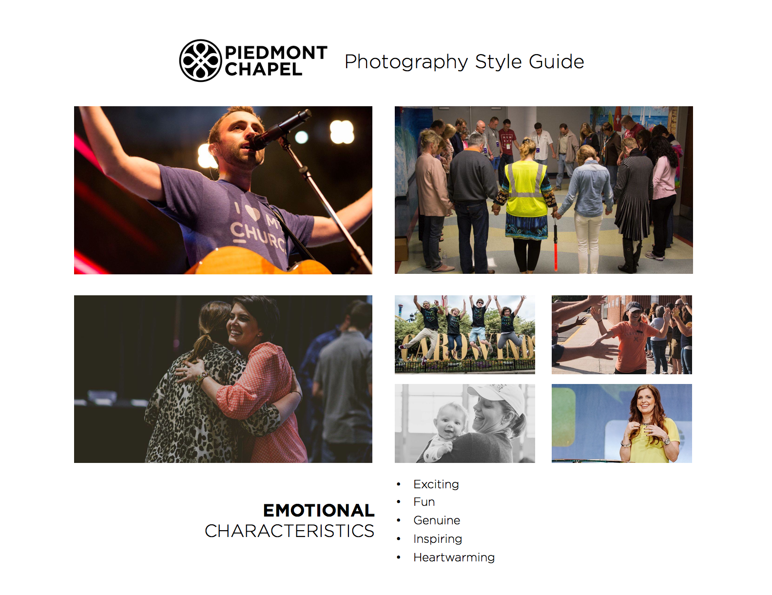 Piedmont Chapel Photography Style Guide - Page 3