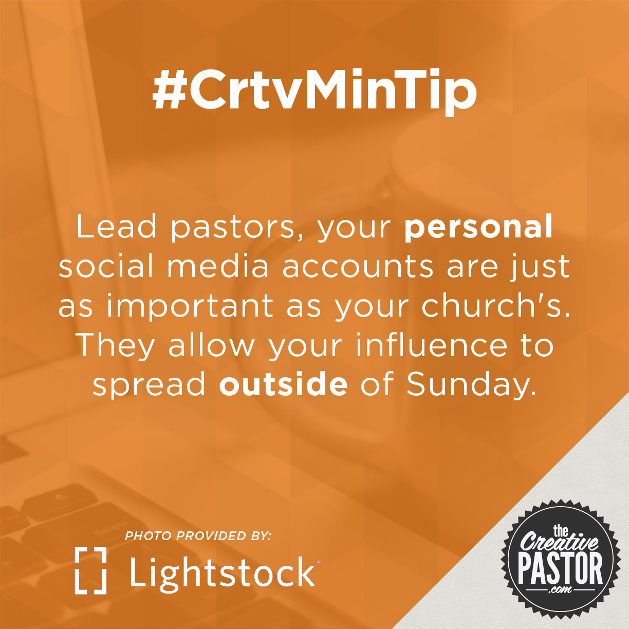 Lead pastors, your personal social media accounts are just as important as your church's. They allow your influence to spread outside of Sunday.