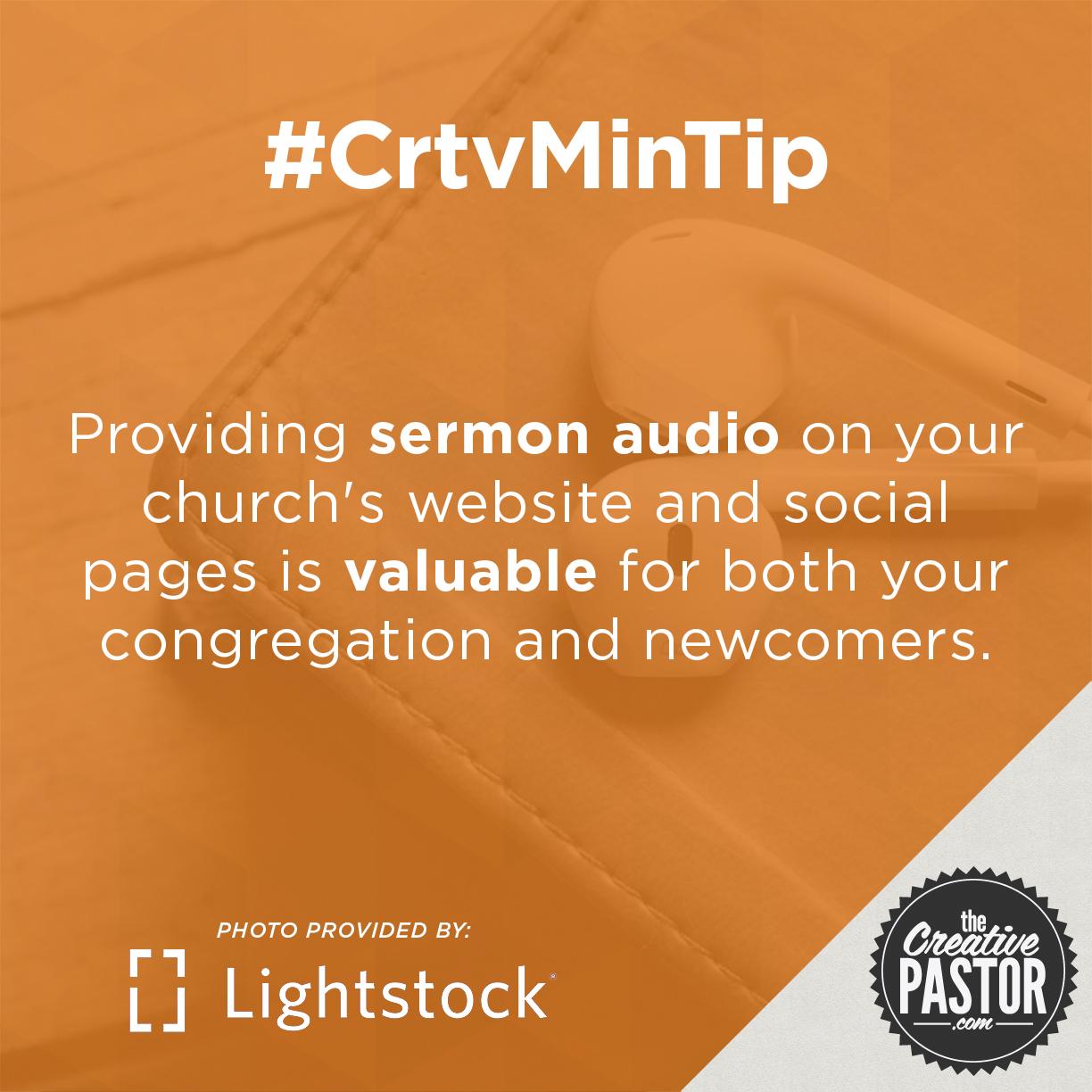 Providing sermon audio on your church's website and social pages is valuable for both your congregation and newcomers.
