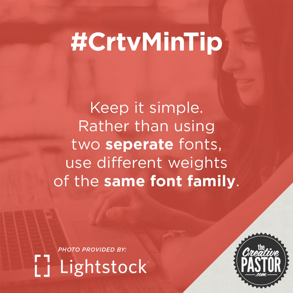 Keep it simple. Rather than using two seperate fonts, use different weights of the same font family.