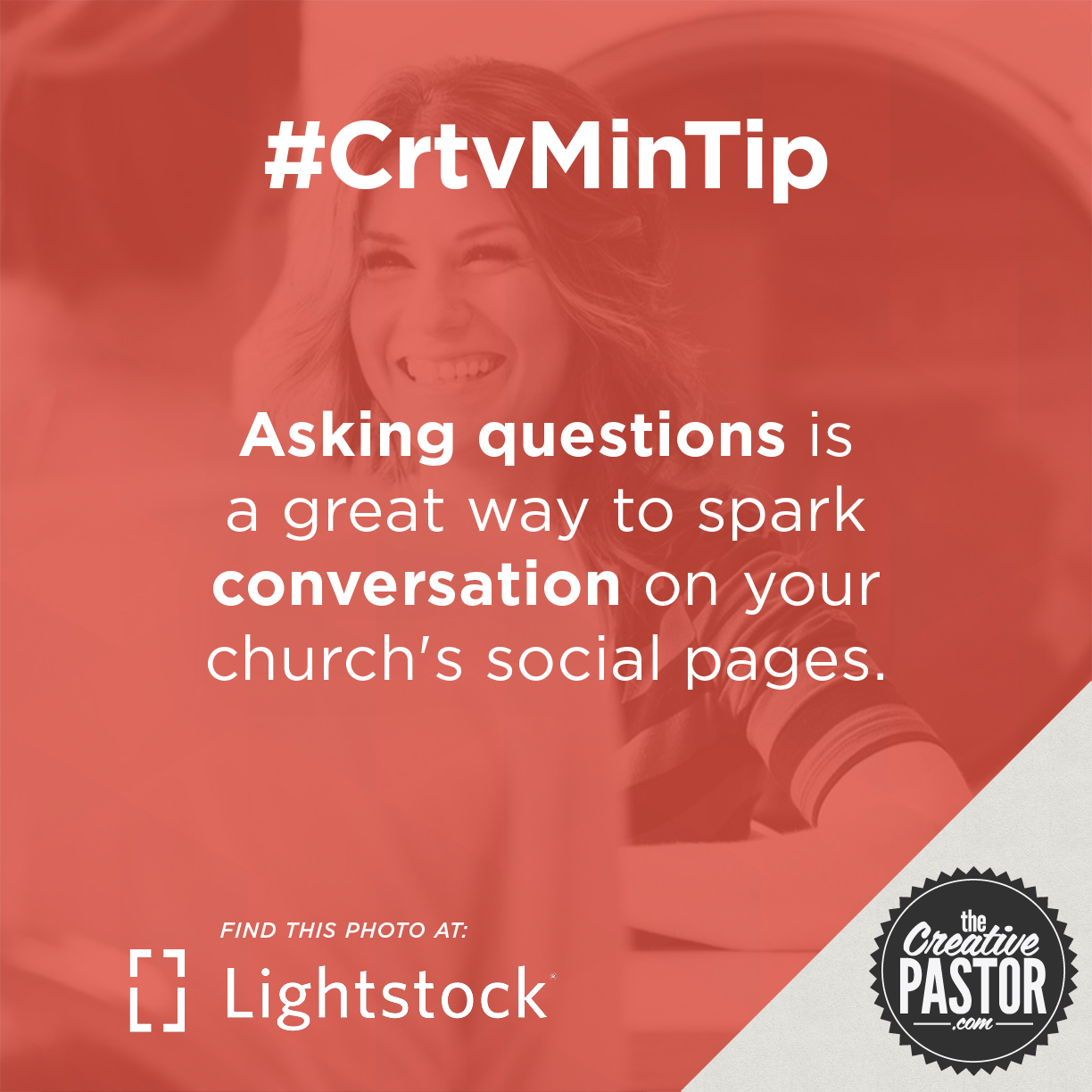 Asking questions is a great way to spark conversation on your church's social pages.