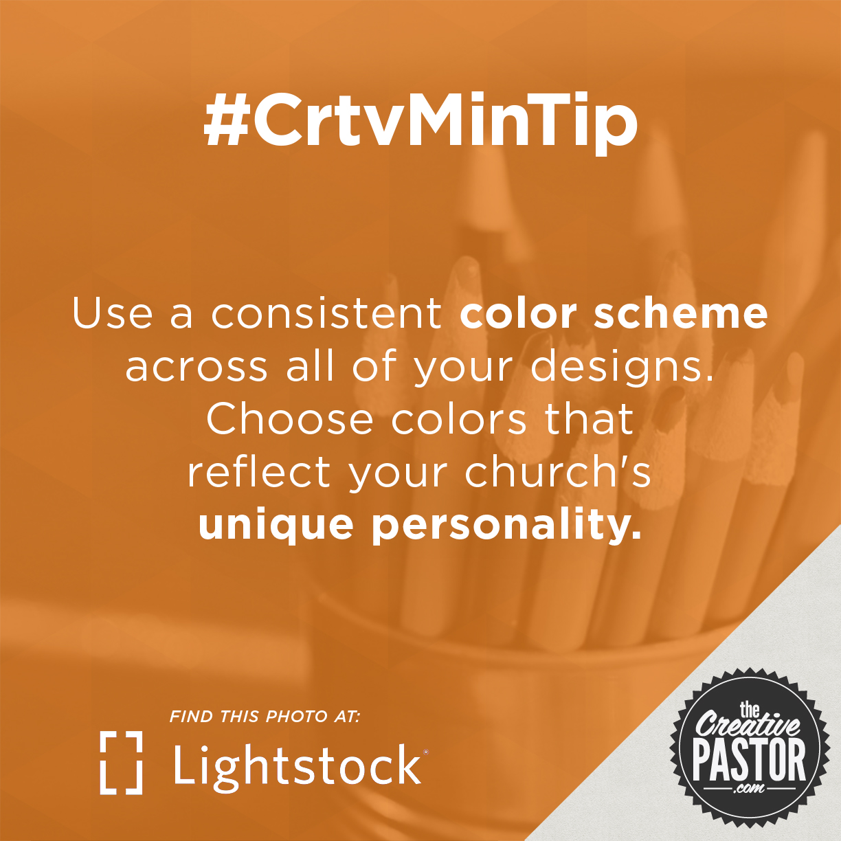 Use a consistent color scheme across all of your designs. Choose colors that reflect your church's unique personality.