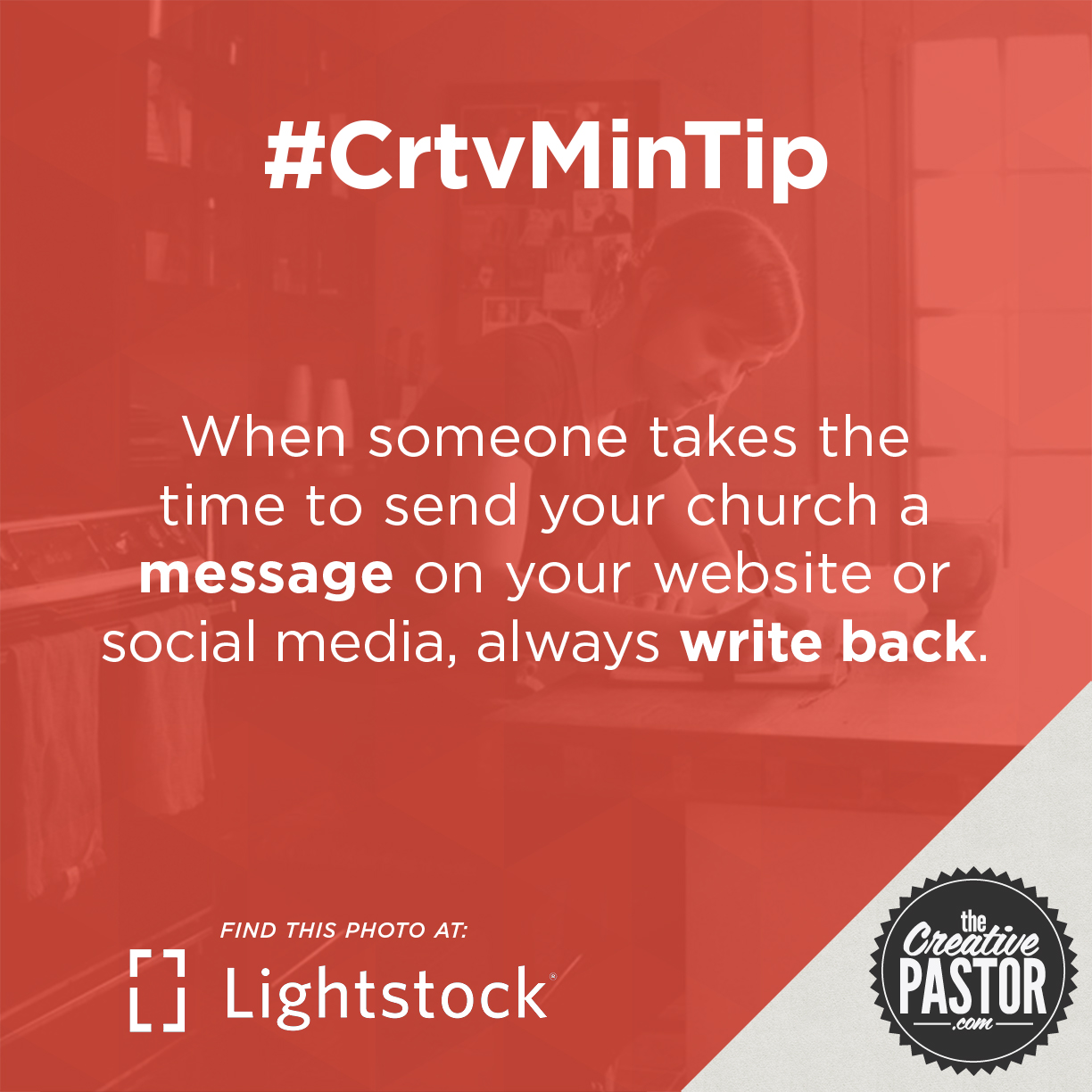 When someone takes the time to send your church a message on your website or social media, always write back.