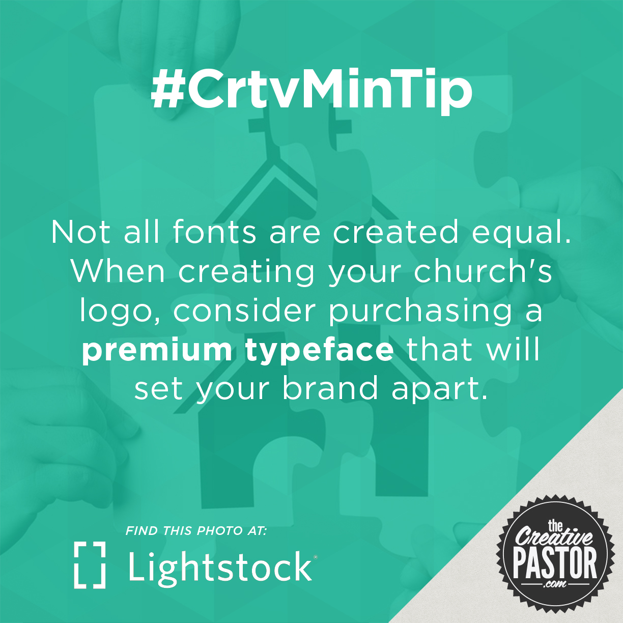 Not all fonts are created equal. When creating your church's logo, consider purchasing a premium typeface that will set your brand apart.