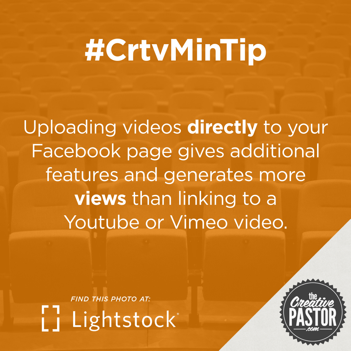 Uploading videos directly to your Facebook page gives additional features and generates more views than linking to a Youtube or Vimeo video.