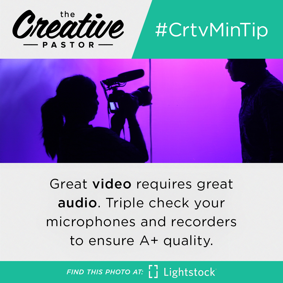 Great video requires great audio. Triple check your microphones and recorders to ensure A+ quality.