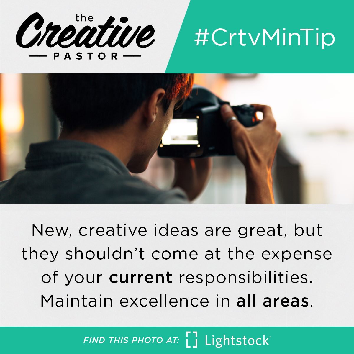 New, creative ideas are great, but they shouldn't come at the expense of your current responsibilities. Maintain excellence in all areas.