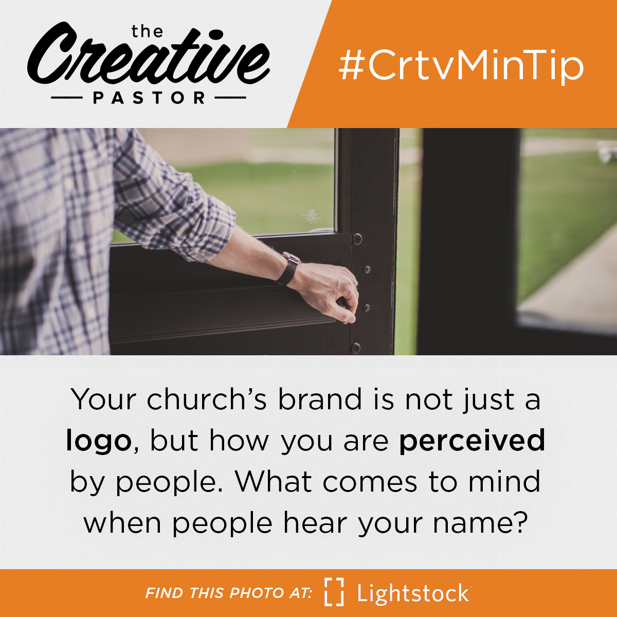 Your church's brand is not just a logo, but how you are perceived by people. What comes to mind when people hear your name?
