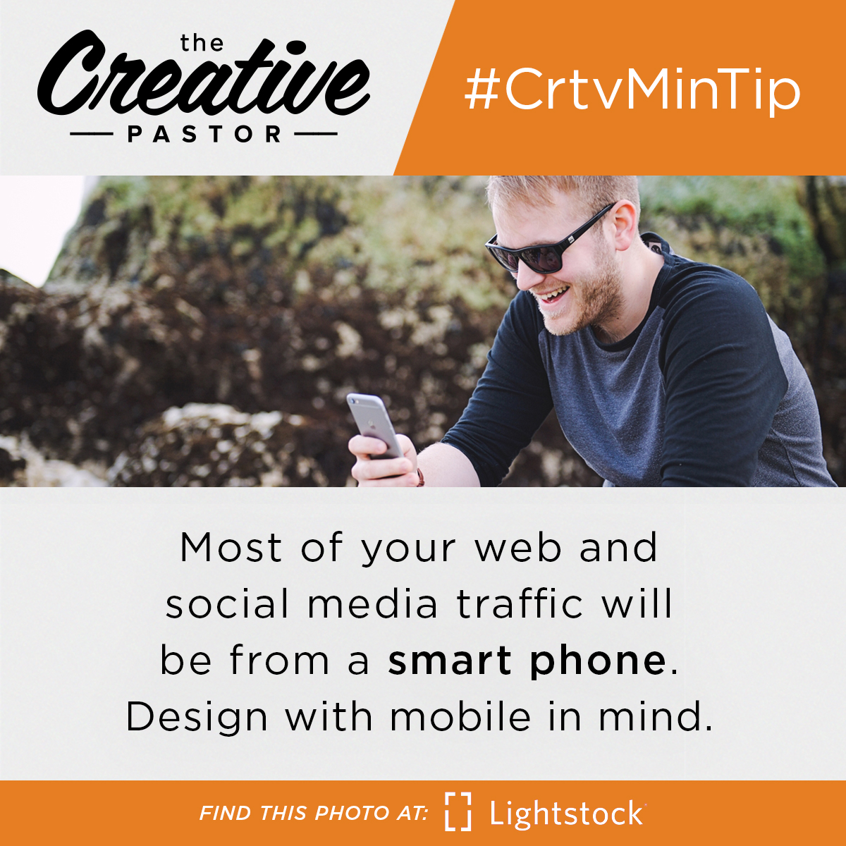 Most of your web and social media traffic will be from a smart phone. Design with mobile in mind.