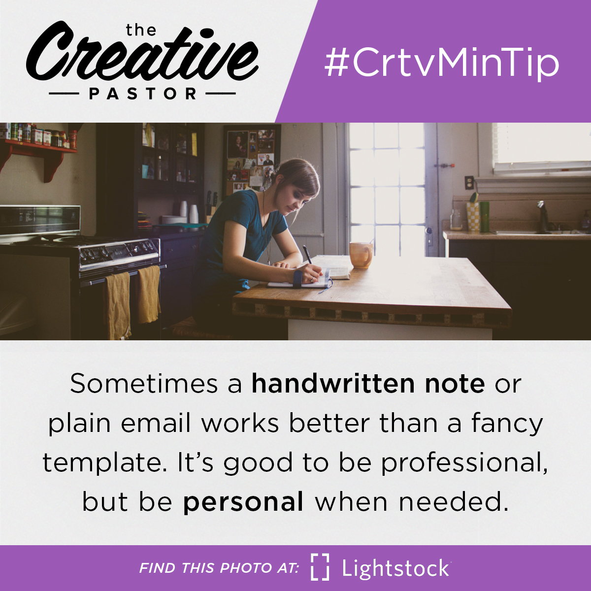 Sometimes a handwritten note or plain email works better than a fancy template. It's good to be professional, but be personal when needed.