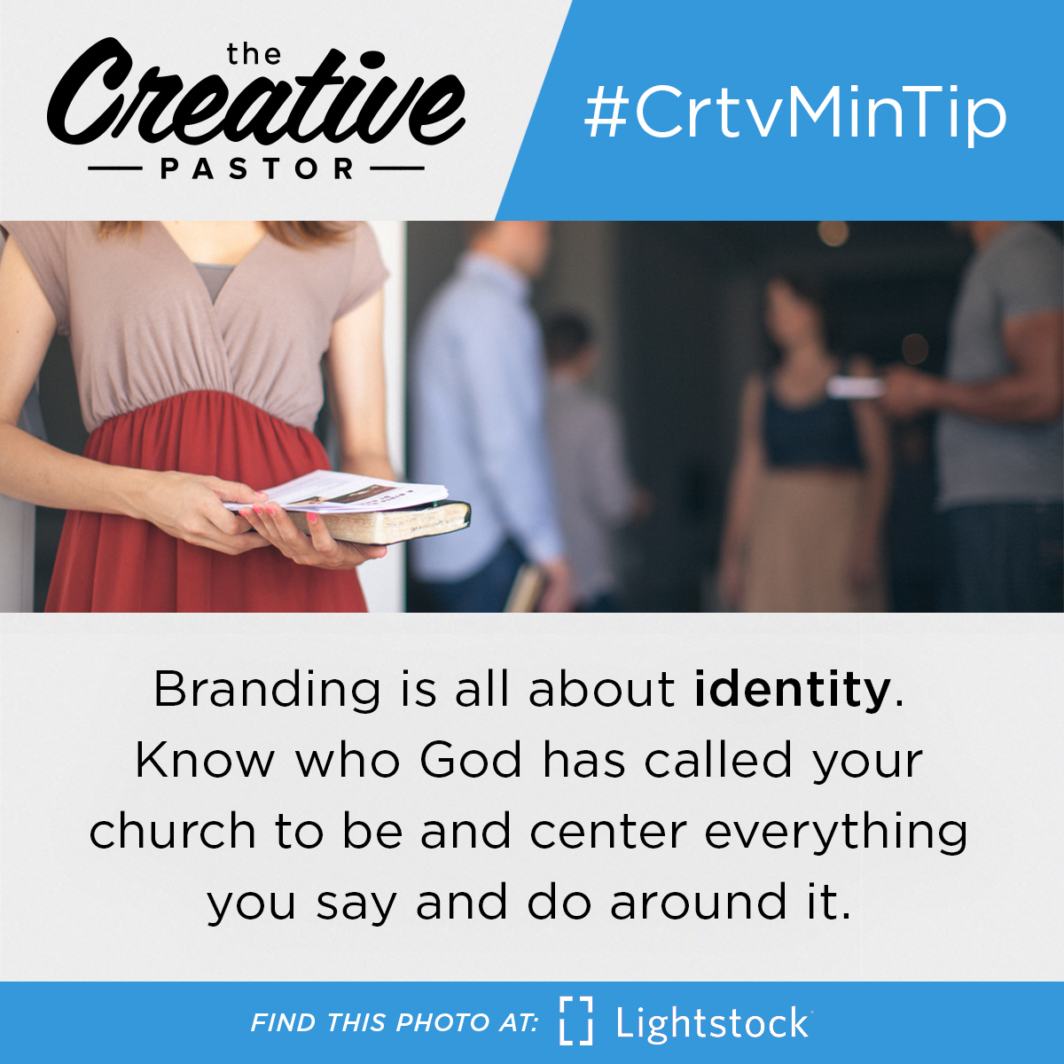 Branding is all about identity. Know who God has called your church to be and center everything you say and do around it.