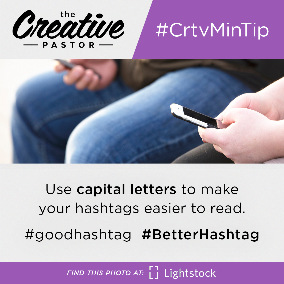 Use capital letters to make your hashtags easier to read. #goodhashtag #BetterHashtag