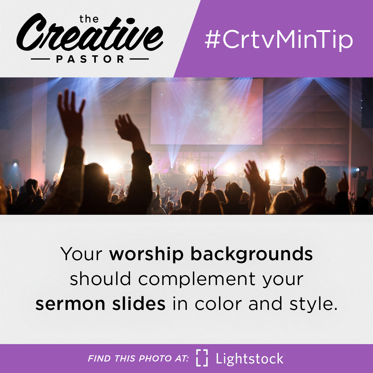 Your worship backgrounds should complement your sermon slides in color and style.