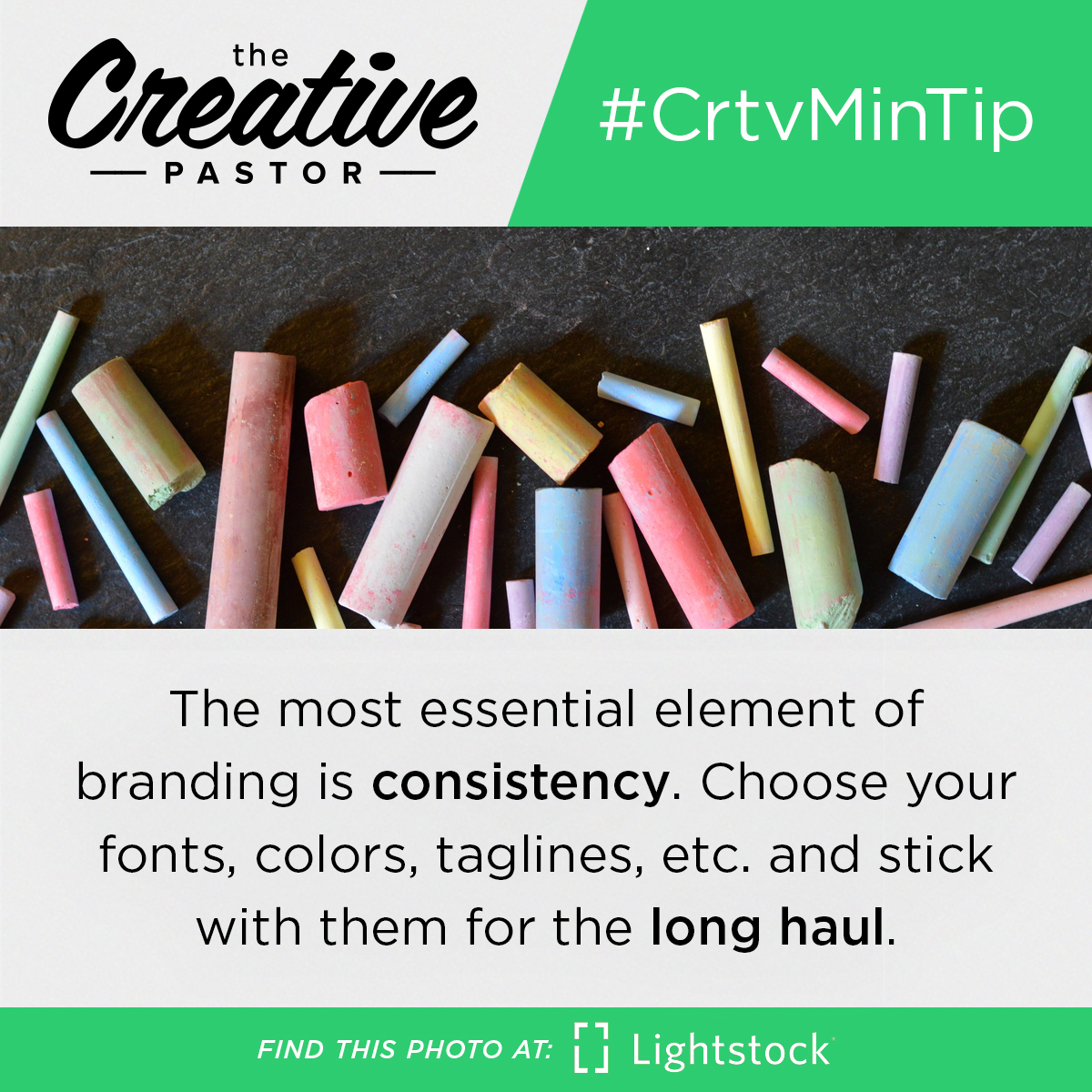 The most essential element of branding is consistency. Choose your fonts, colors, taglines, etc. and stick with them for the long haul.