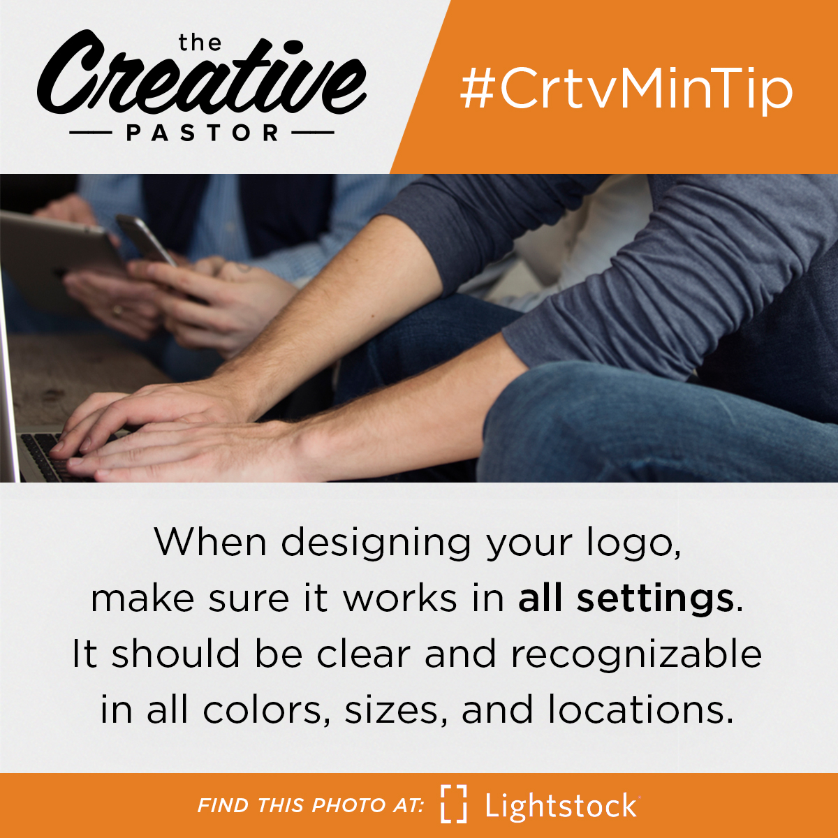 #CrtvMinTIp: When designing your logo, make sure it works in all settings. It should be clear and recognizable in all colors, sizes, and locations.
