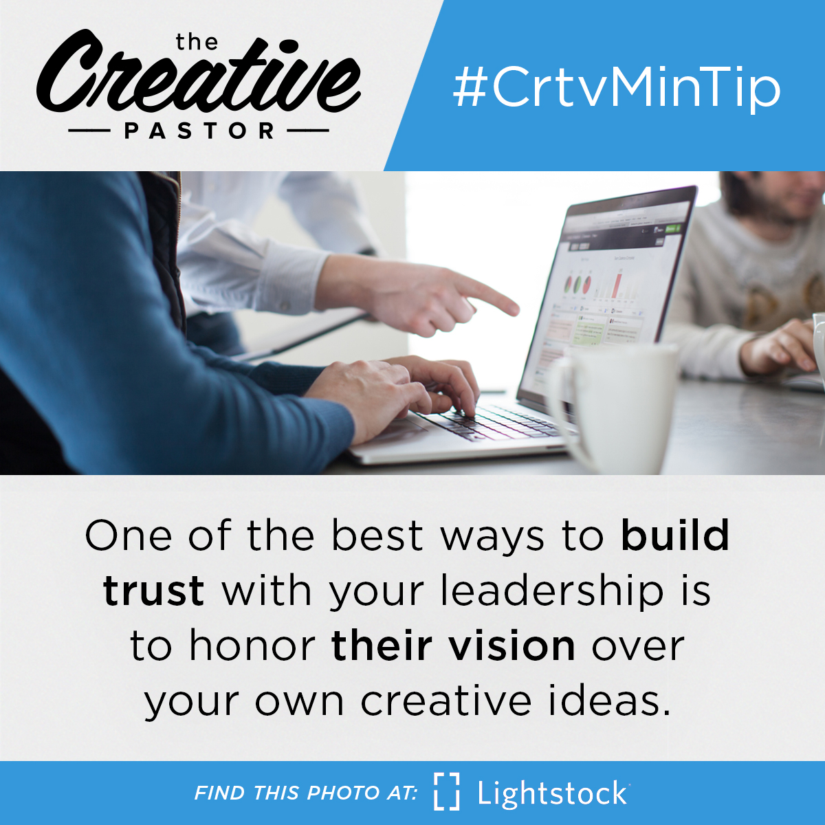 #CrtvMinTip: One of the best ways to build trust with your leadership is to honor their vision over your own creative ideas.