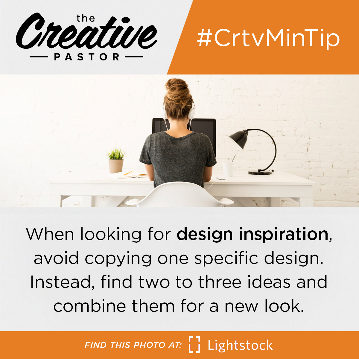 #CrtvMinTip: When looking for design inspiration, avoid copying one specific design. Instead, find two to three ideas and combine them for a new look.