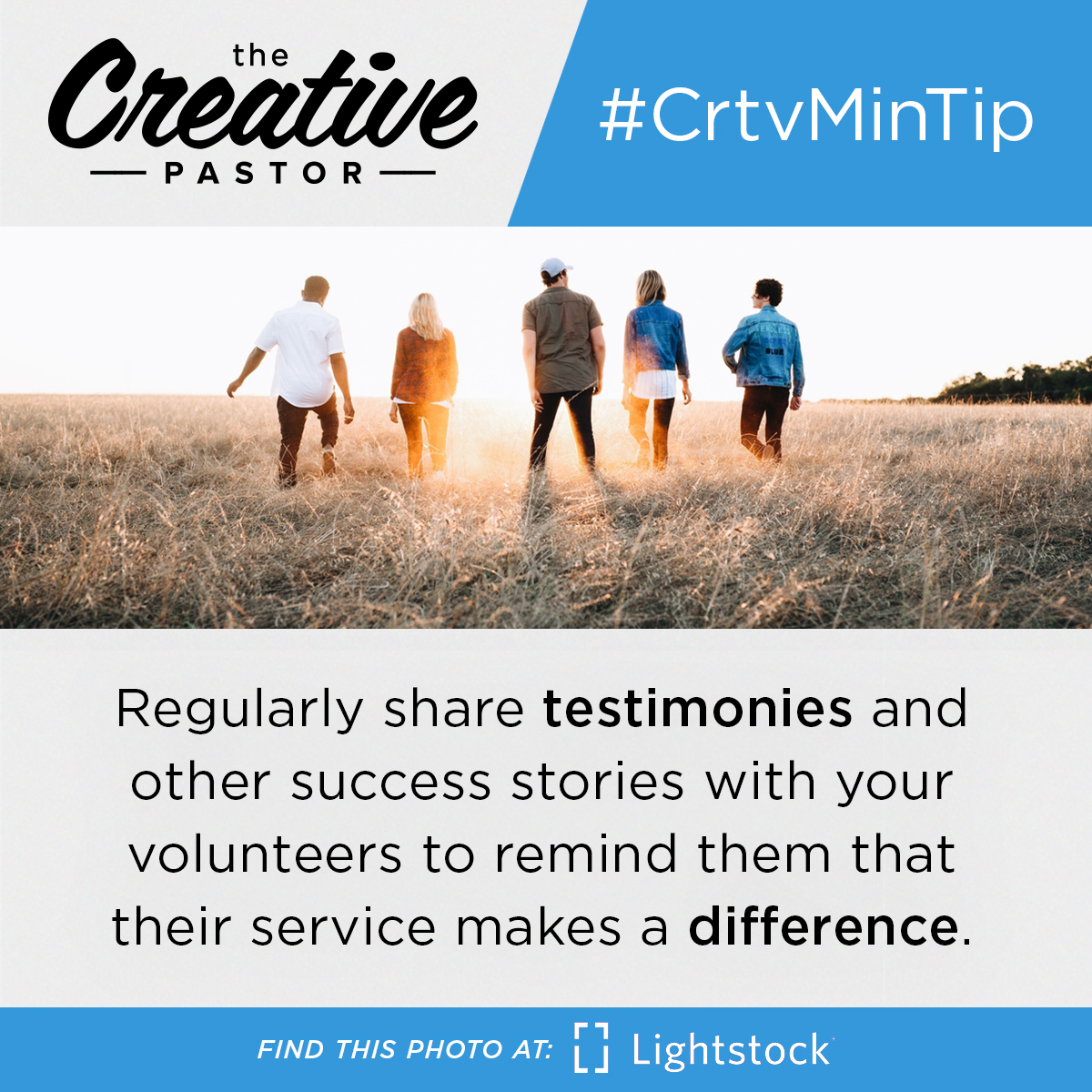 #CrtvMinTip: Regularly share testimonies and other success stories with your volunteers to remind them that their service makes a difference.