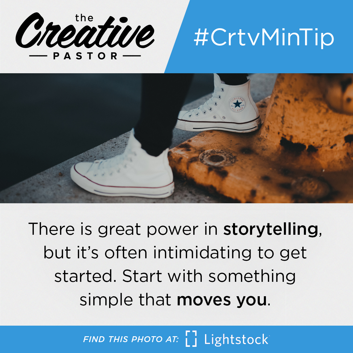 #CrtvMinTip: There is great power in storytelling, but it's often intimidating to get started. Start with something
