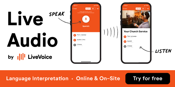 Live Audio by LiveVoice (Language Interpretation • Online & On-Site • Try For Free)
